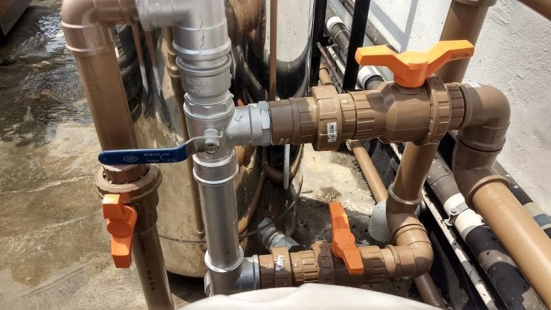 Instalação de filtro central de agua