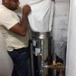 Manutenção filtro central de agua